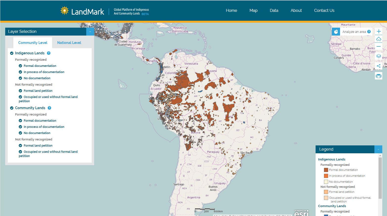 For Practitioners Rights Resources - Argentina landmarks map