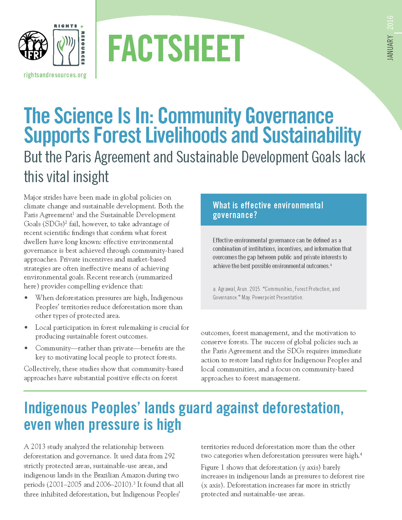 Community Supports For Effective >> The Science Is In Community Governance Supports Forest Livelihoods