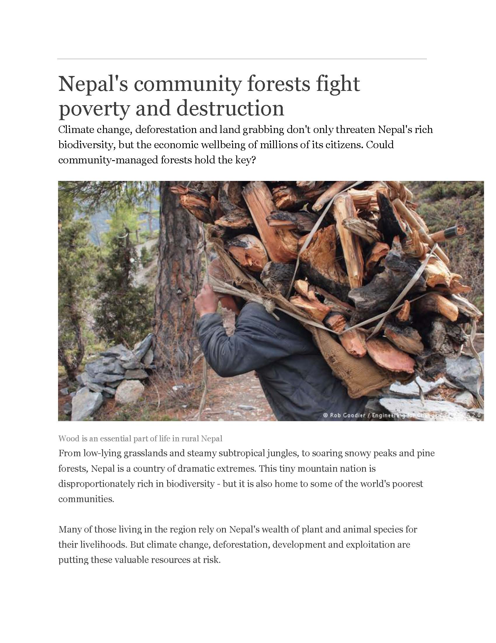Nepal biodiversity strategy 2017